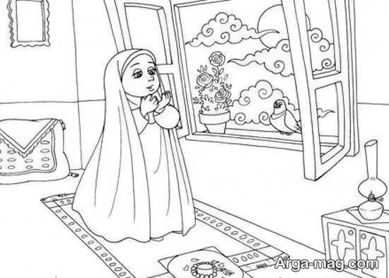 نقاشیهای ماه رمضان با رنگ آمیزی متفاوت