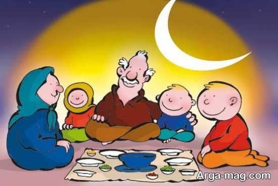 نقاشیهای دوست داشتنی ماه رمضان