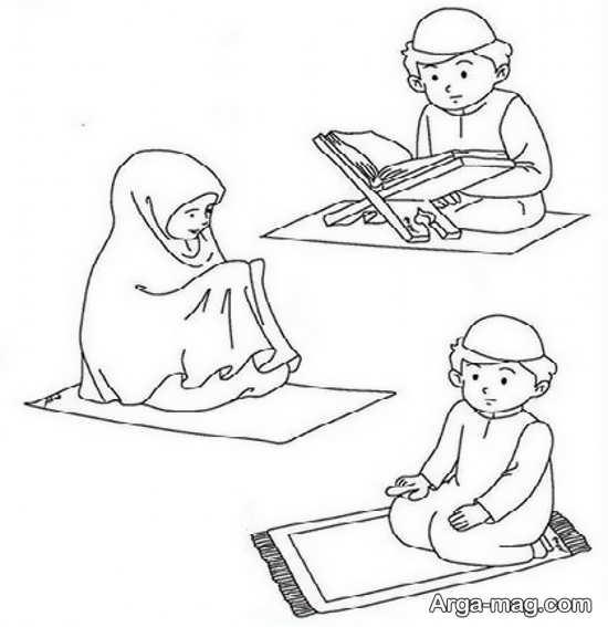 نقاشیهای کودکانه ماه رمضان