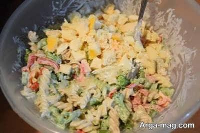 سالاد ماکارونی با سبزیجات