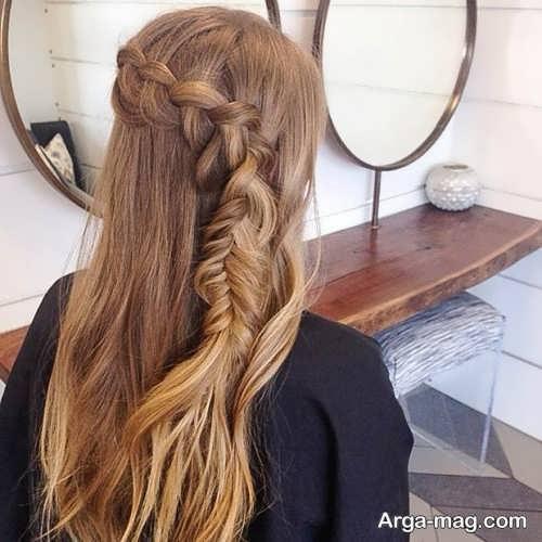 مدل موی نیمه باز همراه با بافت مو