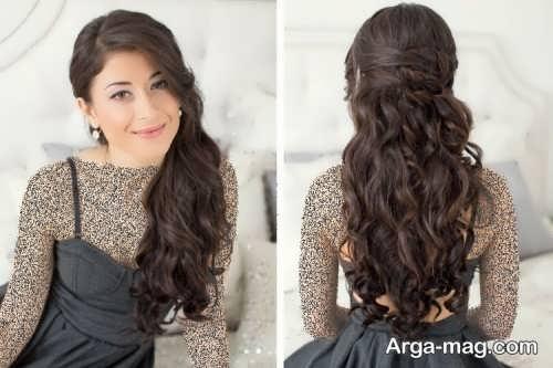 مدل مو نیمه باز با متدهای زیبا