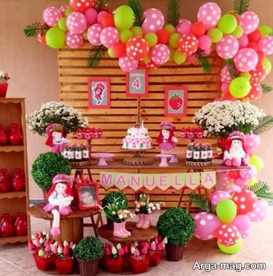 زیباترین تزیینات تولد توت فرنگی