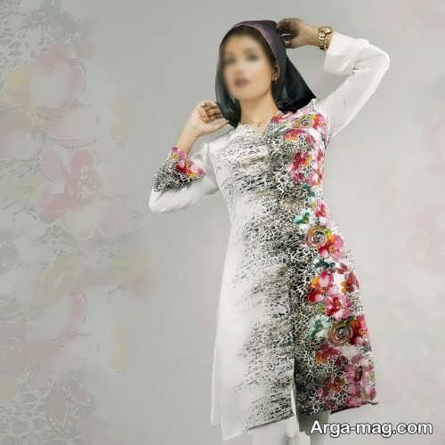 مانتو گلدار دخترانه