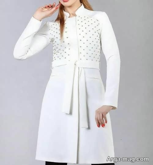 مدل مانتو دخترانه تابستانی سفید