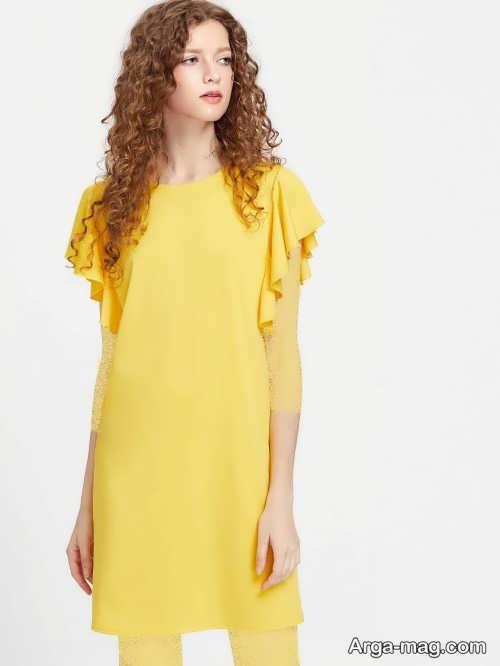 مدل تونیک زرد دخترانه