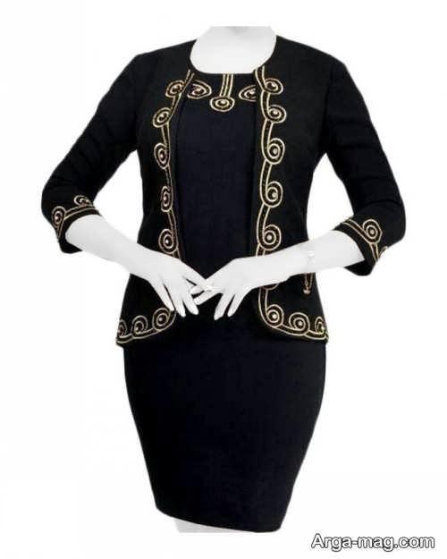 مدل کت و دامن طرح دار و سنتی زنانه
