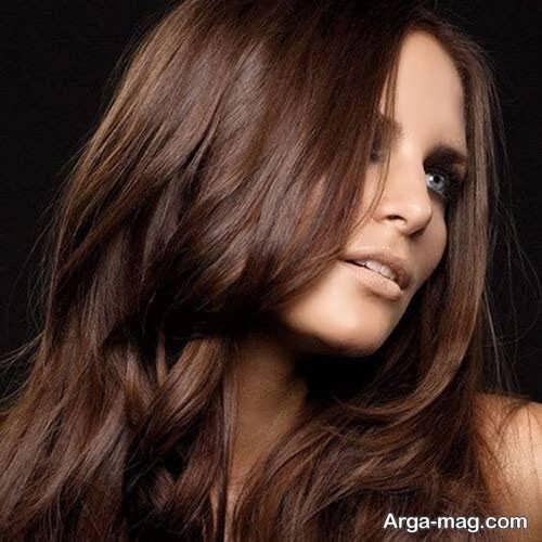 رنگ مو گردویی زیبا