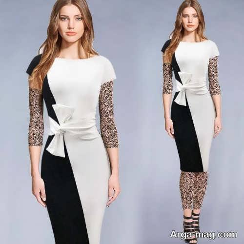 مدل لباس مجلسی زنانه مشکی و سفید