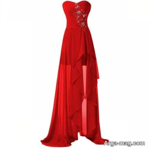 مدل لباس مجلسی قرمز زنانه