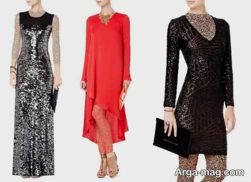 مدل لباس مجلسی زنانه کوتاه و بلند