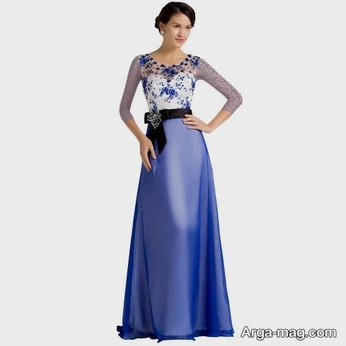 مدل لباس مجلسی زنانه گلدار