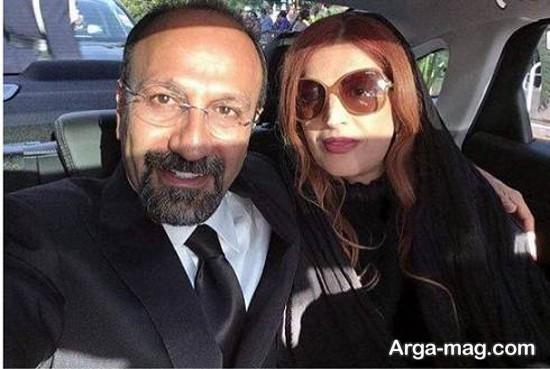 اصغر فرهادی و همسرش در ماشین
