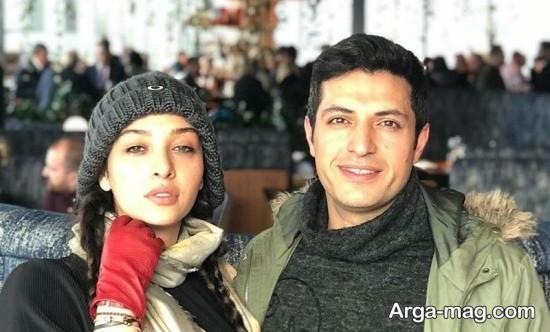 اشکان خطیبی و همسرش