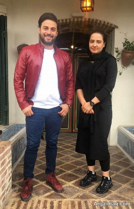 بابک جهانبخش و همسرش در شمال