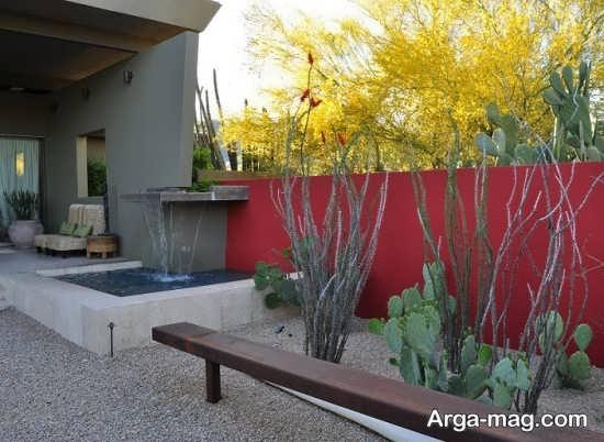 رنگ آمیزی دیوار حیاط