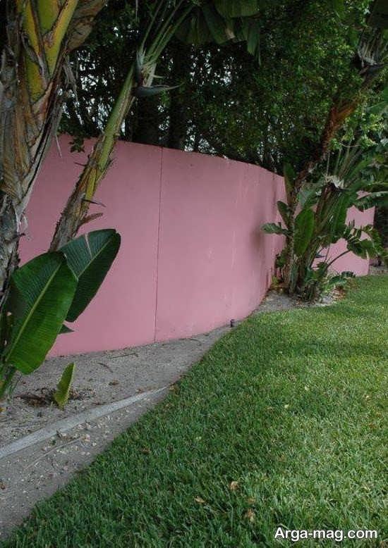 رنگ آمیزی دیوار با تم صورتی