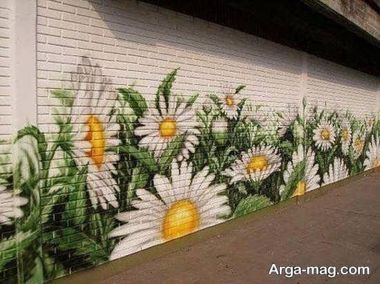 رنگ آمیزی عالی دیوار حیاط