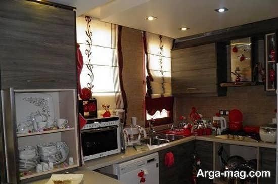 دیزاین زیبای آشپزخانه عروس