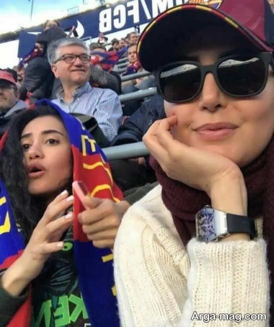 elnaz shakerdoost 3 - عکس های دیدنی از الناز شاکردوست به همراه خواهرش در نیوکمپ بارسلونا