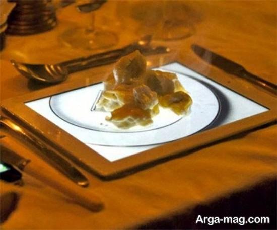 تزیین عجیب غذا در رستوران