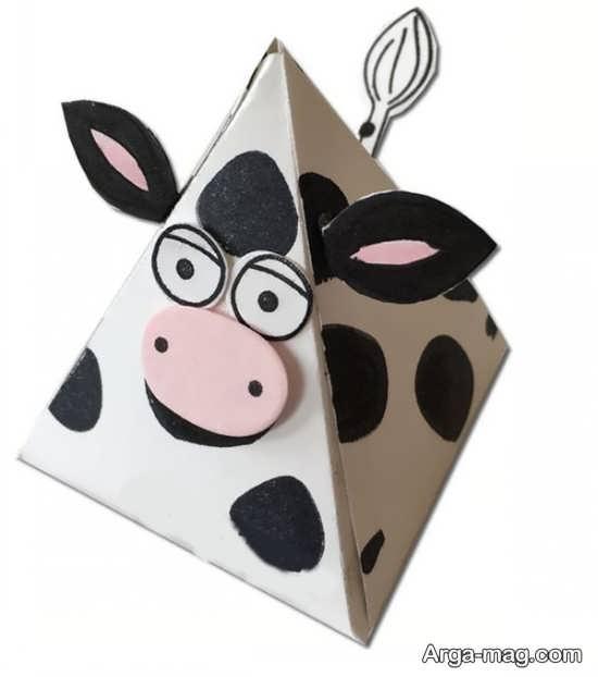 طراحی گاو به شکل مثلثی