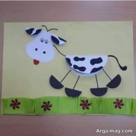 نقاشی برجسته گاو