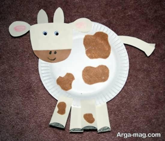 ساخت گاو با بشقاب