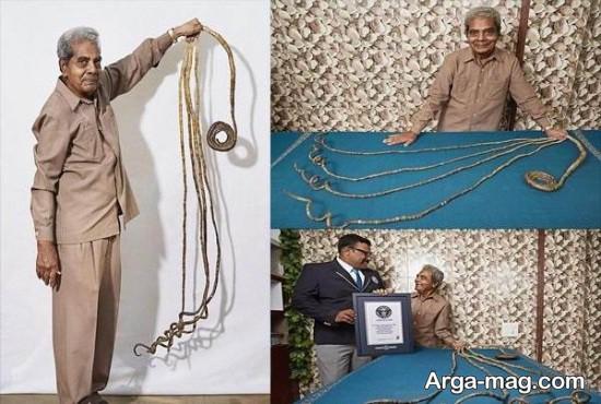 hend - مرد هندی پس از ۶۶ سال ناخن هایش را کوتاه کرد + عکس