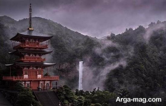 طبیعت زیبای ژاپن در باران