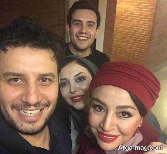 mahlagha baghri 3 - مه لقا باقری در پشت صحنه تئاتر زندانی خیابان دوم