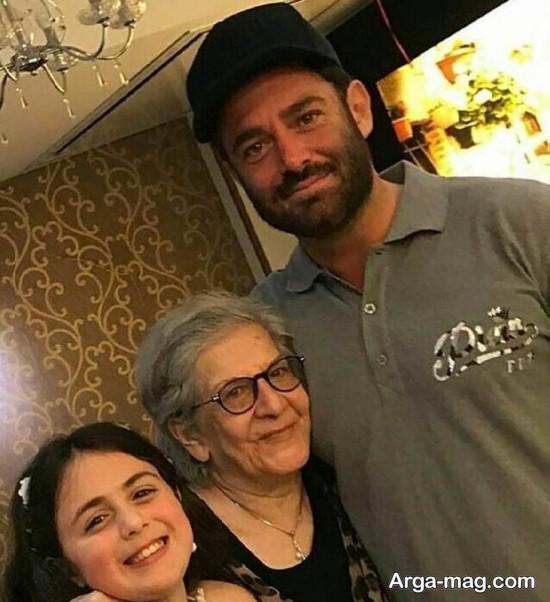 mohamad golzar - محمدرضا گلزار و مادربزرگش + عکس