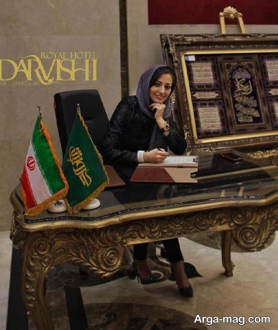 nafise roshan 3 - تصاویر نفیسه روشن در هتلی شیک در مشهد