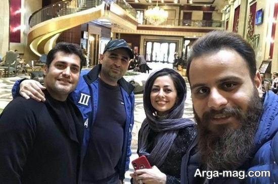 nafise roshan 4 - تصاویر نفیسه روشن در هتلی شیک در مشهد