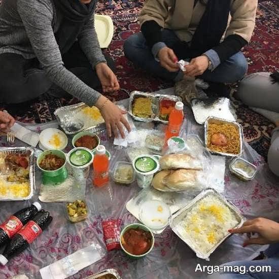 nikikarimi 3 - نیکی کریمی از پشت صحنه سریالش در حال ناهار خوردن منتشر کرد