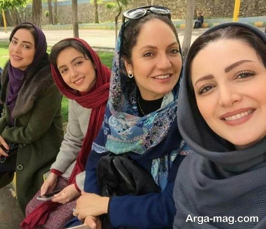 shila khodadad 3 2 - شیلا خداداد و سایر بازیگران سریال گلشیفته در یک قاب