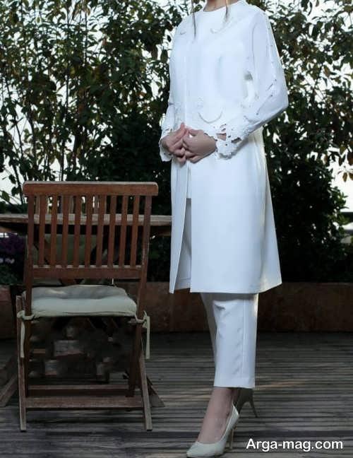 مدل مانتو مانتو سفید
