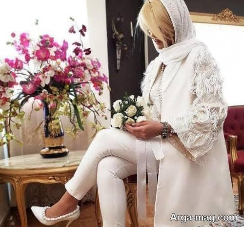 مدل مانتو زنانه برای عقد محضری
