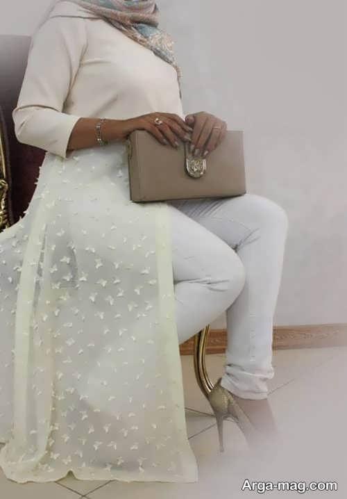 مدل مانتو بلند برای عقد