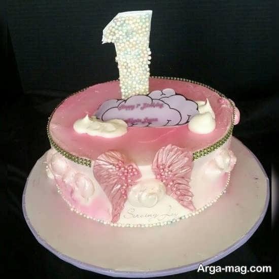 طراحی کیک با تم تولد فرشته