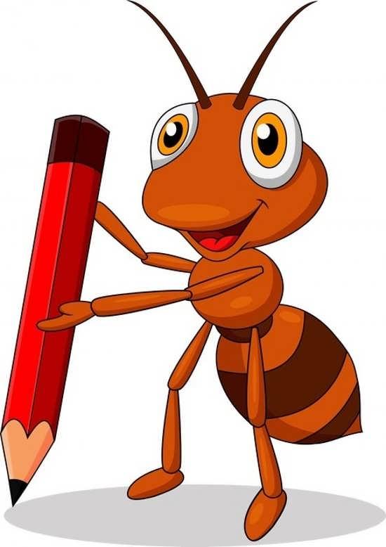 نقاشی کودکانه مورچه