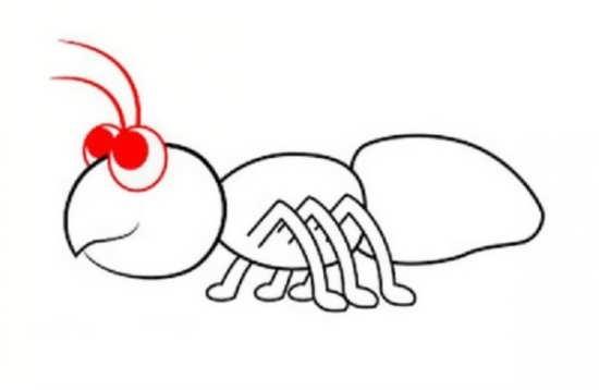 نقاشی فانتزی مورچه برای بچه ها