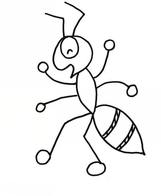 نقاشی کارتونی مورچه