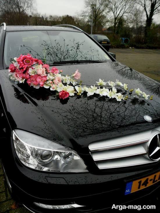 تزیین زیبا ماشین عروس با رنگ مشکی