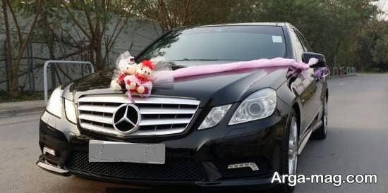 تزیین ساده و زیبا ماشین عروس