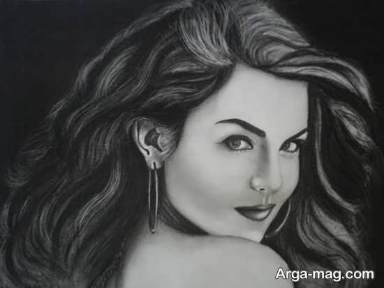 نقاشی سیاه قلم با طرحهای زیبا