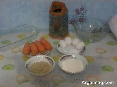 مواد لازم برای تهیه خاگینه هویج