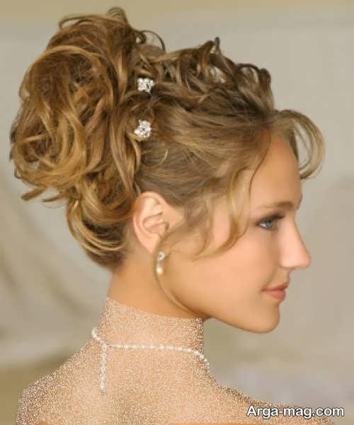 مدل آرایش مو بسته عروس