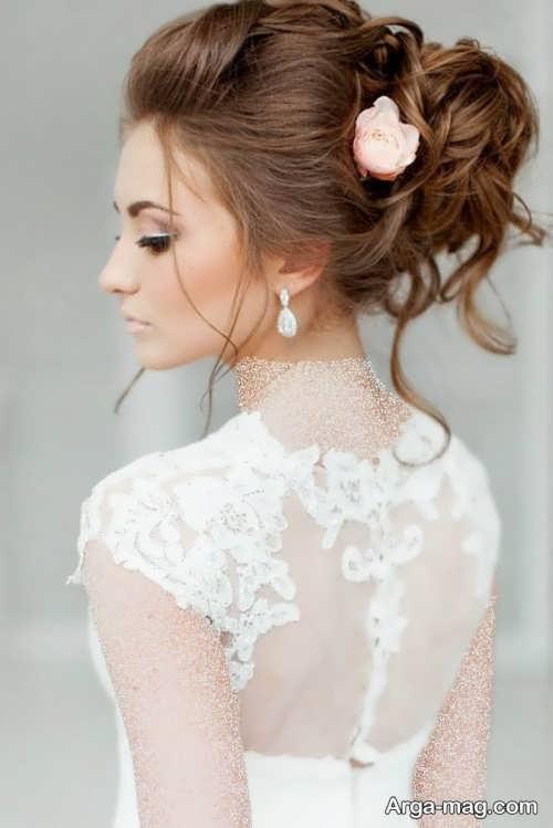 مدل شینیون زیبا و شیک برای عروس