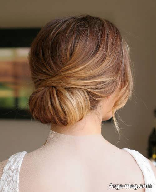 مدل آرایش موی ساده برای عروس